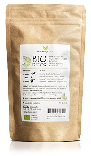 BIO Detox Tee - Premium Qualität - zur Entgiftung des Körpers - Natürlich Entschlacken und Abnehmen - Ergänzung zu Diäten - 100g - Qualität aus Deutschland -