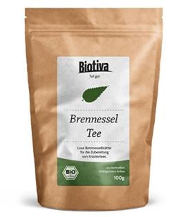 Brennesselblätter-Tee (Bio, 100g) I lose Blätter I 100% Bio-Premiumqualität I 30 Jahre Kräutererfahrung I unterstützt bei rheumatischen Beschwerden -