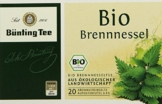 Bünting Tee Bio Brennnessel 20 x 2g Beutel, 4er Pack (4 x 40 g) -