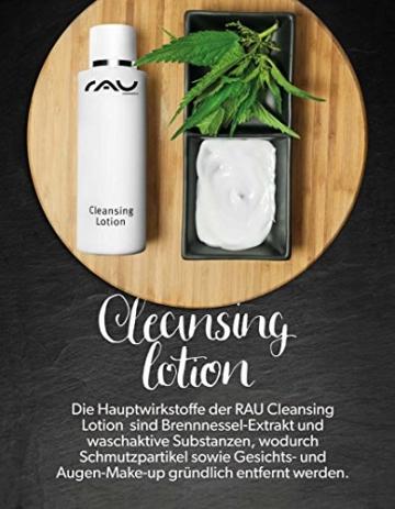 RAU Cleansing Lotion 200 ml - Reinigungsmilch mit Brennnessel-Extrakt, waschaktiven Substanzen/Tenside. Entfernt gründlich Schmutzpartikel und Make-Up - NEU -