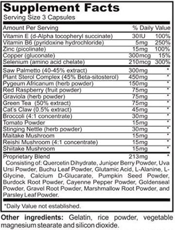 #1 Prostata Unterstützung Supplement – KOSTENLOSE LIEFERUNG & GELD-ZURÜCK-GARANTIE – 33 Inhaltsstoffe in einer Formel für die Symptome einer vergrößerten Prostata und Harnfluss - Sägepalme, Beta-Sitosterol, Kürbiskern, Brennnesselwurzel, Pygeum Africanum plus Vitamine für optimale Prostatagesundheit – 90 Kapseln -
