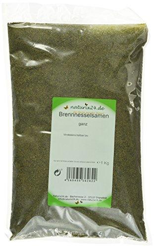 Naturix24 Brennnesselsamen ganz, 2er Pack (2 x 1 kg) -