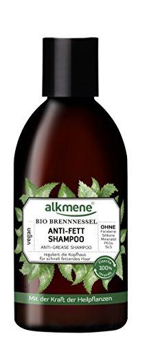 alkmene Anti-fett Shampoo mit Bio Brennnessel, für fettige Haare, 250 ml  - 2er Pack (2 x 250 ml) - 1